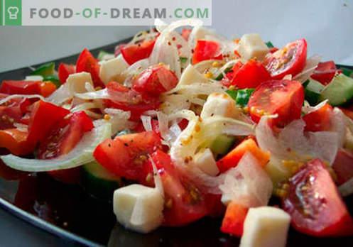 Sveže zelenjavne solate so najboljši recepti. Kako pravilno in slastno pripraviti solate iz sveže zelenjave.