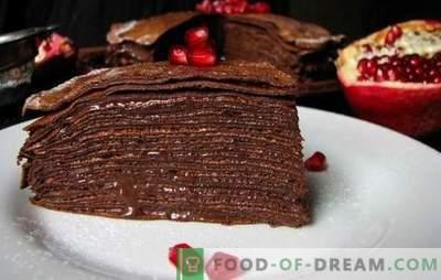 Čokoladna torta na kefirju - svetli okus! Recepti za okusne kefir pecivo z maslom, kremo in maslo