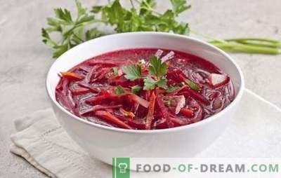 Juha iz rdeče pese z mesom: v vročini in v hladnem okusno! Najboljši recepti za kuhanje tople in hladne rdeče pese z mesom