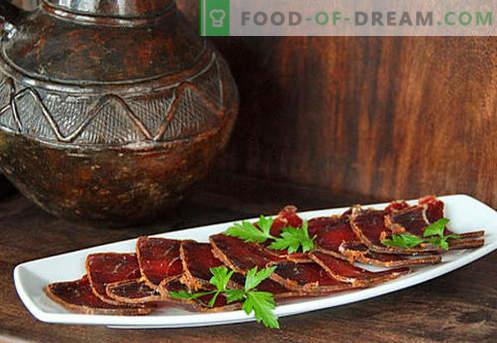 Начало basturma - най-добрите рецепти. Как да правилно и вкусно готви basturma на говеждо или пиле у дома.