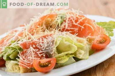 Solata z lososom in sirom - pravi recepti. Hitro in okusno kuhajte solato z lososom in sirom.
