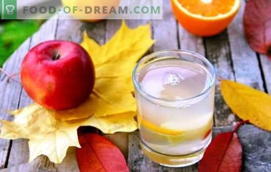 Compote de mere și portocale - o băutură delicioasă cu indicii de exotică. O selecție a celor mai bune compoturi de mere și portocale