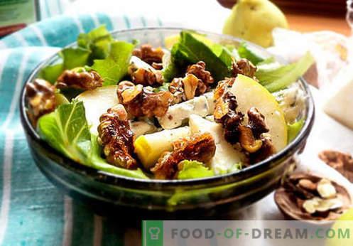 Салати с круша - пет най-добри рецепти. Как правилно и вкусно салати с круша.