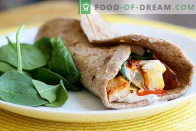 Piščančji Burrito - najboljši recepti. Kako pravilno in okusno kuhati burrito s piščancem.