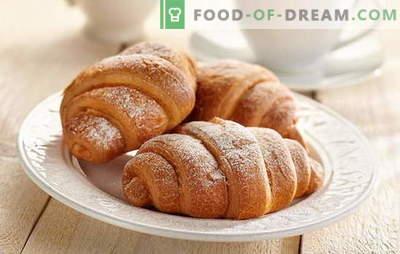 Croissante cu lapte condensat - atât de delicios! Croissants cu retete de lapte condensat: din drojdie, shortcake, aluat cascaval