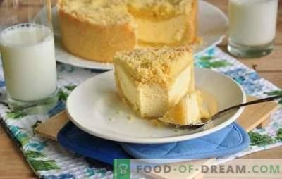 Royal cheesecake (recept za korak za korakom) - izbrana sladica skute. Kralj sira v počasnem štedilniku: recept za korak za korakom