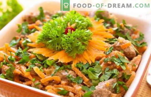Solata s piščančjo jetra - dokazani recepti. Kako pravilno in slastno pripraviti solato iz piščančjih jeter.