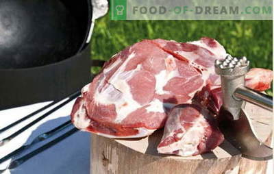 Najboljši recepti za kuhanje dišečega mesa v kotlu, skrivnosti dodajanja začimb. Meso v kotlu: svinjina, jagnjetina, jagnjetina