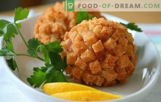 Kotleta v drobtinah: sočno meso s hrustljavo skorjo. Želite vedeti zanimive recepte za koščke v drobtinicah?