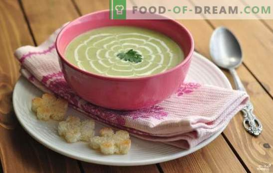 Juha iz bučk - nenavadno, a okusno! Recepti juhe s pšeničnimi pireji, paradižnikom, sirom, medom, meto, piščancem, zelenjavo in gobami
