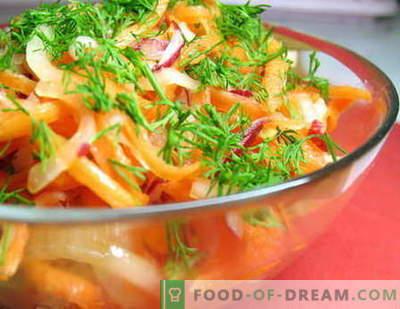 Rastlinske solate - najboljši recepti. Kako pravilno in okusno kuhati zelenjavne solate.