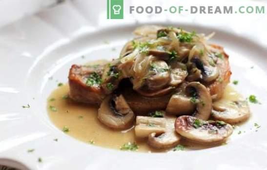 Svinjski narezki z gobami - mesna slava, nezemeljski okus! Najboljši recepti za okusne svinjske rezine z gobami
