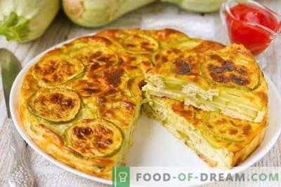 Zucchini Casserole - najboljši recepti. Kako pravilno in okusno kuhati bučke bučka.