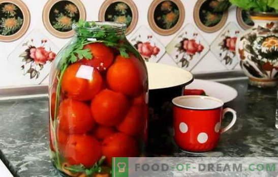Najboljši recepti za paradižnik pod pokrovom karonov. Kako pripraviti paradižnik pod kapo pokrovom: nasveti izkušene gospodinje