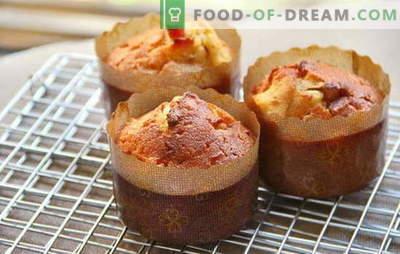 Cupcake na kislo smetano - eleganten okus v angleškem slogu. Najboljše ideje recepti kolački na kislo smetano: z jagodami, kandirano sadje, čokolada