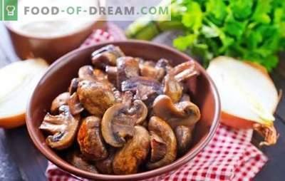 Šampinjoni s čebulo - svet gobnih fantazij! Pečeni in praženi šampinjoni s čebulo v pečici, v pečici
