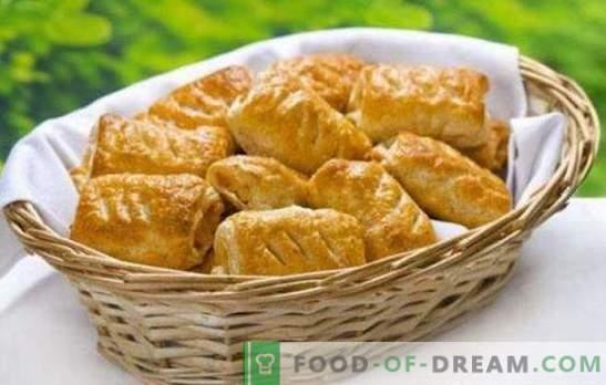 Puder s sirom - dišeča okusna peciva za zajtrk ali večerjo. Recepti za piščančje testo s sirom in gobami, skuto, jagode