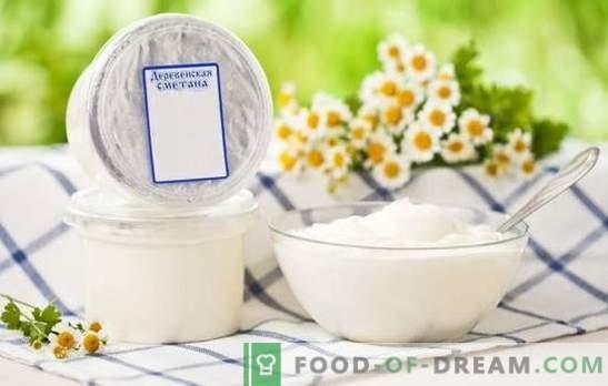 Krema za kislo smetano - uporabna in vsestranska. Kako mešati sestavine v smetanovi kremni torti?