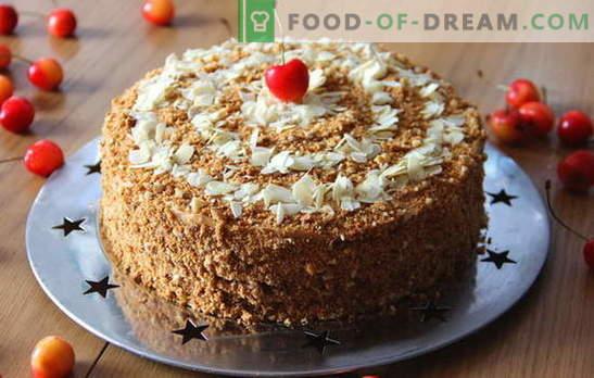 Najbolj okusna medena torta doma. Variante medene tortice doma z občutljivo kremo in nadevom