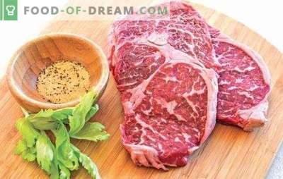 Marmorirani goveji zrezek - mesna poslastica! Recepti in vsi načini kuhanja marmoriranih zrezkov v pečici, na štedilniku in na žaru