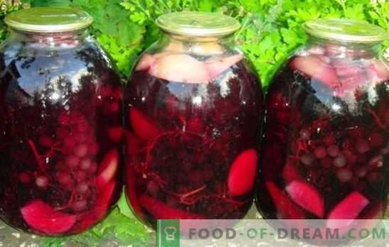 Grozdje in kompoti iz jabolk so lep in dišeč čudež. Poskrbite, da boste za zimo založili kompot grozdja in jabolk