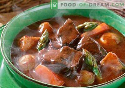 Супа од гулаш - докажани рецепти. Како да правилно и вкусно готви гулаш супа.