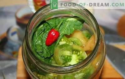 Prigrizek iz zelenih paradižnikov za zimo - svež, okusen, svetel, nenavaden. Najboljši recepti za okusne prigrizke iz zelenih paradižnikov za zimo