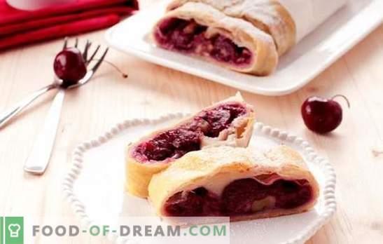 Cherry puff pie - zagotovo se ne bo zadrževal! Različne pecivo iz domačega in kupljenega testa