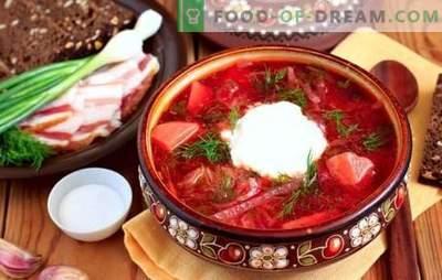 Slovanska kuhinja: mali ruski, kozački in ukrajinski boršč. Korak za korakom recept ukrajinskega boršč in nekaj zgodovine ...