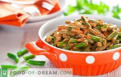 Kako kuhati zeleni fižol okusno in hitro: solata, priloga s zelenjavo, jajca, gobe. Kuhanje zelenega fižola okusno - recepti