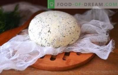 Kefyro sūris namuose - skanus, ekonomiškas, sveikas. Kaip gaminti įvairių rūšių sūrius iš kefyro namuose