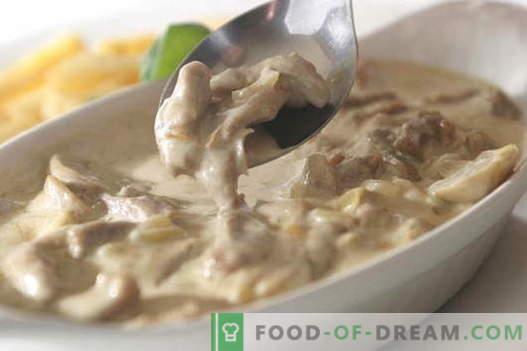 Meso v kisli smetani - najboljši recepti. Kako pravilno in okusno kuhati meso v kislo smetano.