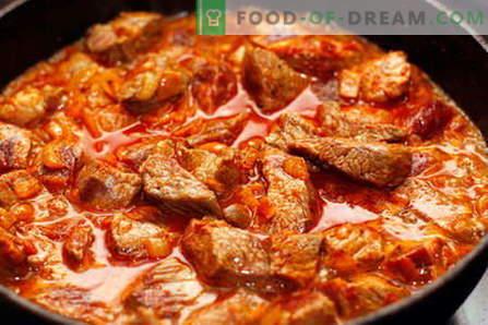 Goveji golaž - najboljši recepti. Kako pravilno in okusno kuhati govejega gulaša.