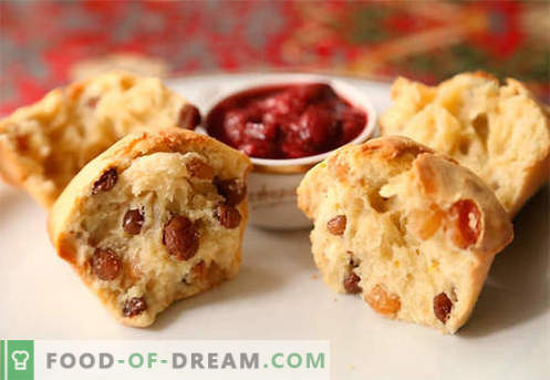 Kolački z rozinami so najboljši recepti. Kako hitro in okusno kuhati kolački z rozinami.