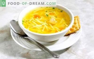 Piščančja juha z rezanci - lahka juha. Najboljši recepti za juho iz piščančjih rezancev: drobovino, jajce, sir, paradižnik