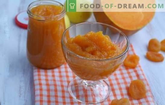 Marmorska buča z suhimi marelicami je oranžna pravljica! Recepti različnih džemov iz buč s suhimi marelicami in limonami, pomarančami, orehi