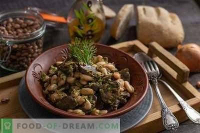Goveje ledvice z fižolom - preprosta topla solata