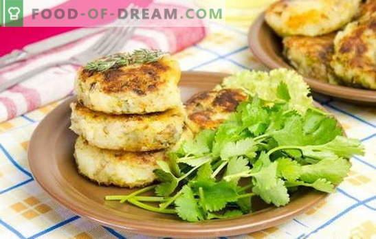 Krompirjeve klobase s polnilom - nenavadna jed iz običajnih izdelkov. Recepti za krompirjeve kaše s sirom, jajci, gobami, mesom