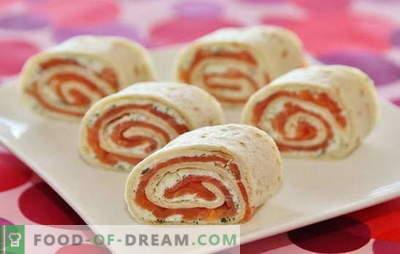 Lavash roll z lososom je idealna jed za počitnice in med tednom. Recepti in razkošnosti ustvarjanja okusne pite s lososom