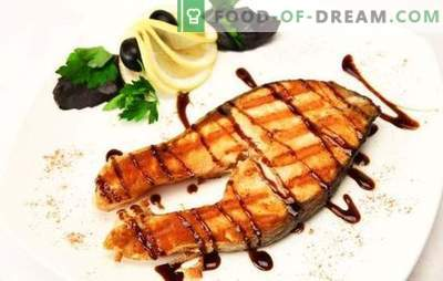 Grilled salmon: noble fish - worthy cooking! With ginger, vegetables in lemon marinade: different grilled salmon dishes