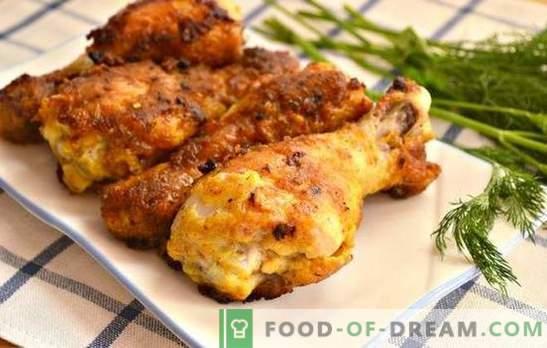 Paličice na ponvi: panirane, omake ali testo, z jabolko ali mandarino. Najboljši recepti za piščančje palčke v ponvi