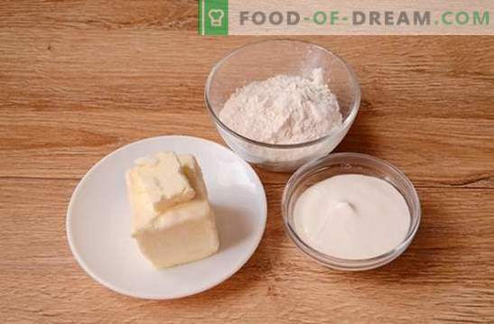 Bagels auf Sauerrahm: ein schrittweises Fotorezept. Es ist eine lange Zeit, duftende Bagels auf Sauerrahm zu kochen, aber es lohnt sich!