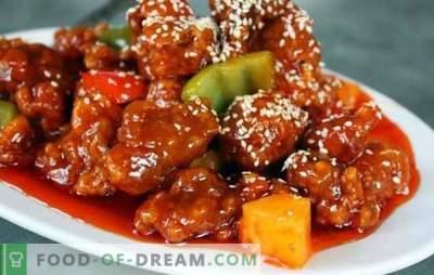 Cerdo coreano: recetas probadas para quienes gustan de la comida picante. Cualquier plato de acompañamiento es bueno con carne de cerdo coreana