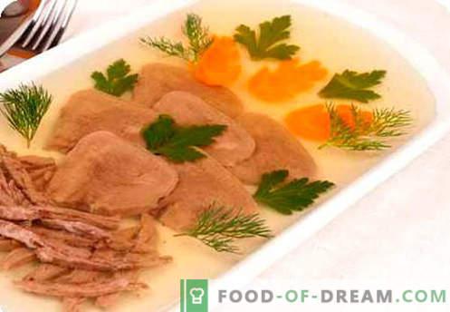Aspic meso - najboljši recepti. Kako pravilno kuhati in polniti meso.