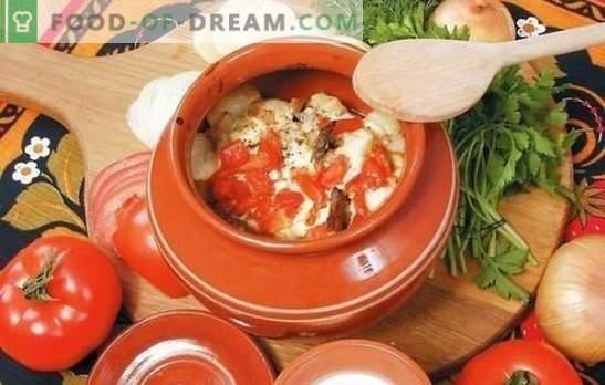 Lončnice v pečici: zelje, krompir, morž in malo vsega. Izbor najboljših receptov za zelenjavo v pečici