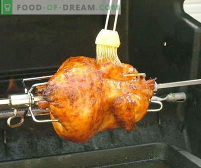 Piščančji piščanec - najboljši recepti. Kako pravilno in okusno kuhati piščanca na ražnju.