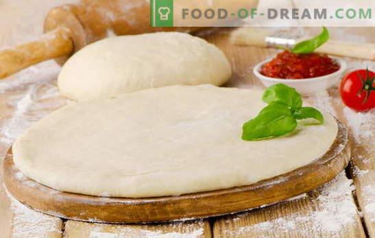 Okusno testo za pizzo - najboljši recepti. Kako kuhati okusno pico testo: na kvas, na kefir, na mineralno vodo