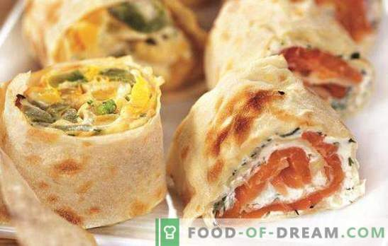 Lavash roll z različnimi nadevi je alternativa kanapejem in sendvičem. Lavash recepti z različnimi nadevi za vsak okus