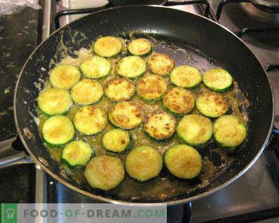 Comment faire frire les courgettes dans une poêle, de délicieuses recettes pour des plats simples