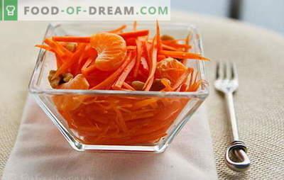 Mletje solate - preprosti recepti za sončne prigrizke! Enostavne korenčkove solate z mesom, jabolki, orehi, zelenjavo